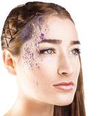 Umělecký make-up — Stock fotografie