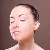 Sağlıklı cilt cilt. studio kız portresi — Stok fotoğraf
