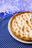 Meringue pie , homemade — Stock Photo