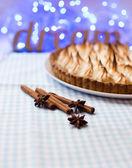 Pie with meringue — Foto de Stock