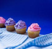 Three delicious cupcakes — ストック写真