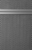 Plakalar ile metal ızgara — Stok fotoğraf