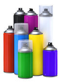 Spray paint cans — Stock Photo