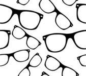 Glasses Seamless pattern retro sunglasses vector background — ストックベクタ