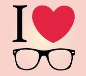 I love sunglasses — Stock Vector