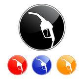 Gas pump nozzle icon. Vector illustration. — Stock Vector