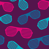 Sunglasses seamless pattern vector background — Stock Vector