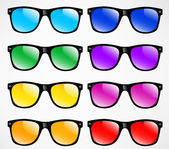 Set of sunglasses vector illustration background — Stockvector