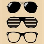Set of sunglasses. vector illustration background — Stock Vector