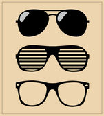 Set of sunglasses. vector illustration background — Stock Vector
