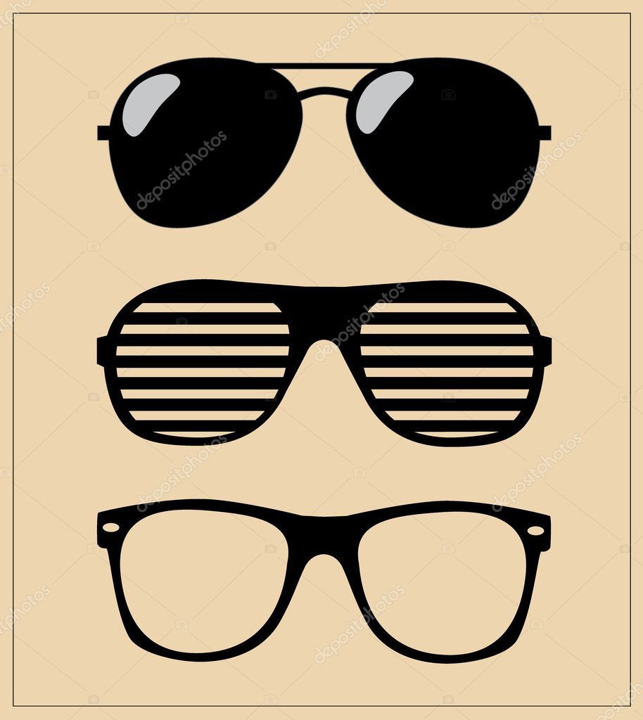 Set of sunglasses. vector illustration background — Stock ...