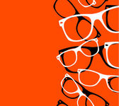 Pattern retro hipster sunglasses. vector abstract background — Stock Vector
