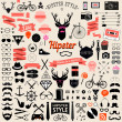 Huge set of vintage styled design hipster icons — Stock Vector #49200765