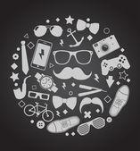 Set of fashionable men's accessories — Stock vektor