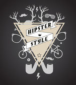 Illustrazione astratta hipster — Vettoriale Stock