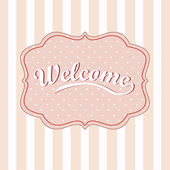 Welcome card — Stock Vector