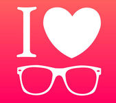 Print I love sunglasses — Vector de stock