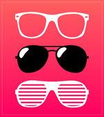 Gafas de sol retro patrón — Vector de stock