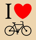Print I like bicycle, — Stock Vector