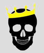 Skull with crown — Stock Vector