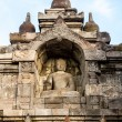 Buddha statue inside of Borobudur temple wall — Stock Photo