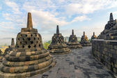 Borobudur temple stupa row in Indonesia — Foto de Stock