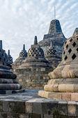 Borobudur temple stupas, Yogyakarta, Java island, Indonesia — Stock Photo