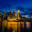 Stock Photo: Singapore Skyline at Dusk