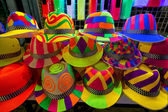 Colourfull and bright hats for nightparty — Stock Photo