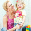 Portrait of mother and daughter — Stock Photo