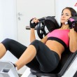 Girl in health club — Stock Photo
