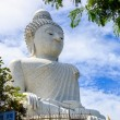 Big Buddha under construction with scaffolds in Phuket, Thailand — Stock Photo