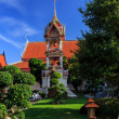 Wat Chalong temple at sunny day Phuket Thailand — Stockfoto