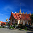 Wat Chalong temple at sunny day Phuket Thailand — Foto Stock