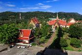 Świątyni Wat chalong w słoneczny dzień phuket Tajlandia — Zdjęcie stockowe