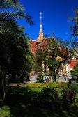 Wat Chalong temple at sunny day Phuket Thailand — Stock Photo