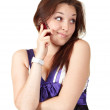 Young beautiful woman talking on mobile phone — Stock Photo #3854904