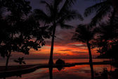 Dramatic Sunset in Thailand, Samui — Stock Photo