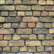 Old green and red yellow  brick cement wall background — Stock Photo #41759201