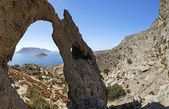 Rocks and sea view, Kalymnos Island, Greece — Stock Photo