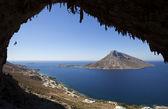скалолазание, остров калимнос, греция — Стоковое фото