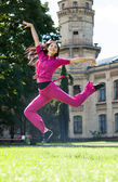 Woman jump in a park — Stock Photo