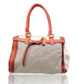 Elegant women handbag isolated over white — Foto de Stock