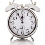 Alarm clock, isolated over white background — Stock Photo
