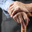 Closeup of senior woman's hands — Photo