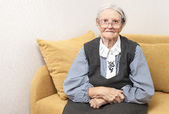 Portrait of a senior woman looking at camera — Stock Photo