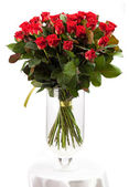 Bouquet of red roses over white — Stock Photo