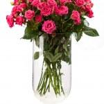 束粉色玫瑰白上 — 图库照片 #40259881