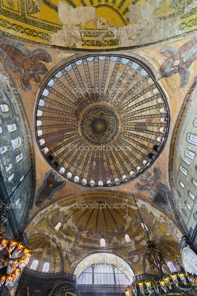 Dome of the Hagia Sophia Museum in Istanbul, Turkey  Stock Photo #13713650
