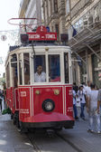 Nostalgic Tram in Istanbul, Turkey. — Stock Photo